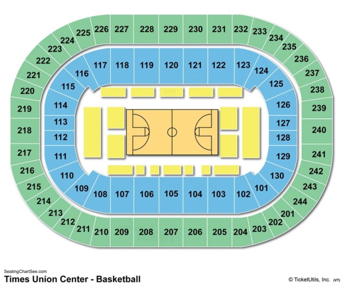 Times Union Center Basketball Seating Chart