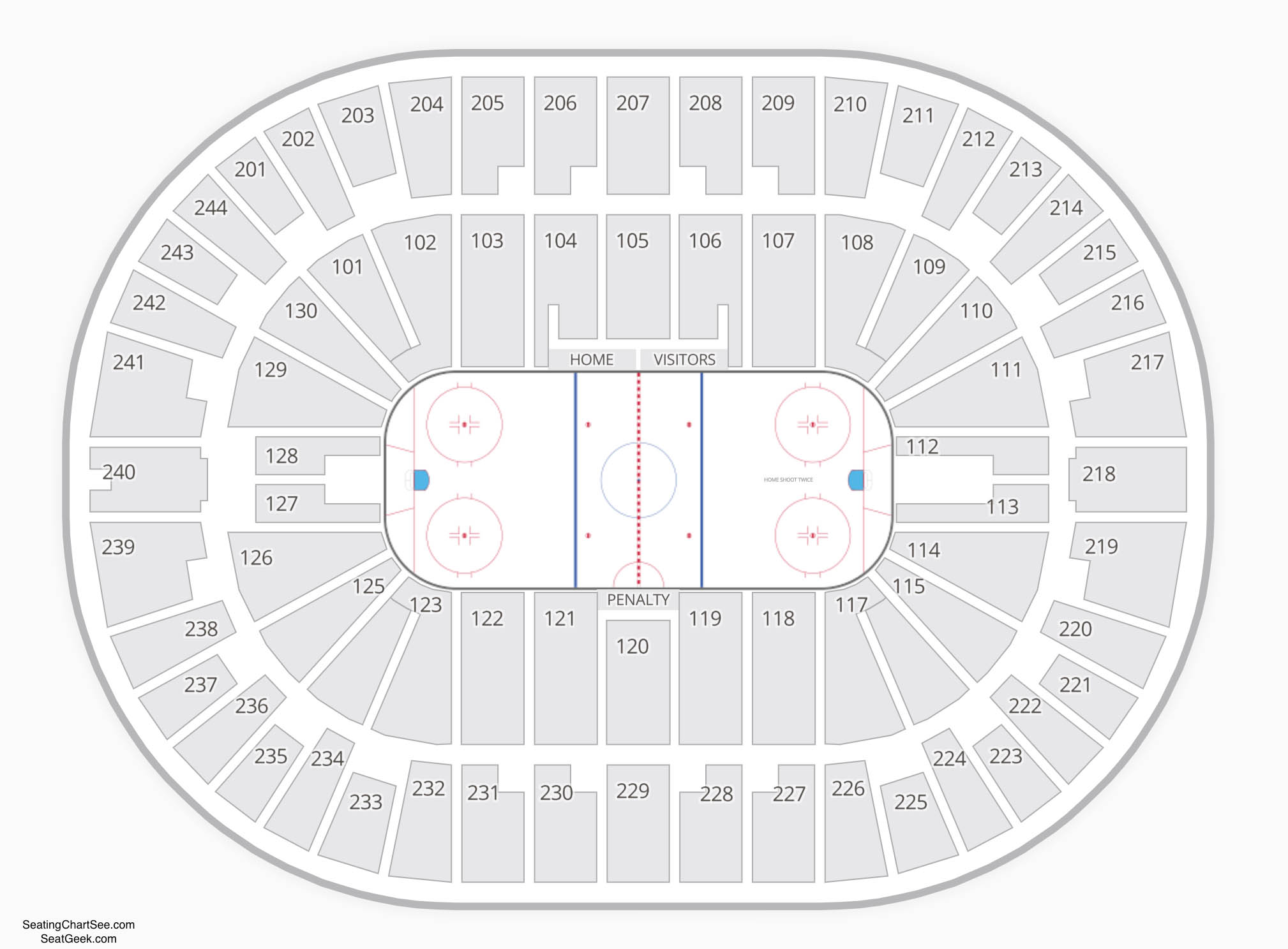 Times Union Center Seating Chart Hockey