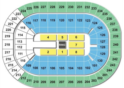 Times Union Center Seating Chart wwe