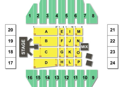 Tom Benson Hall of Fame Stadium Concert Seating Chart