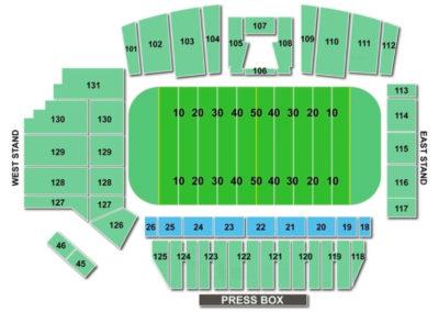Tom Benson Hall of Fame Stadium Football Seating Chart