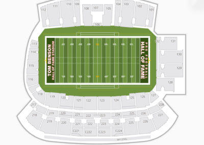 Tom Benson Hall of Fame Stadium Seating Chart NFL
