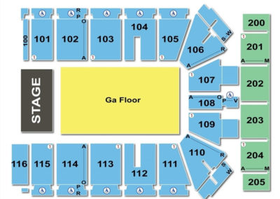 Tyson Events Center Concert Seating Chart