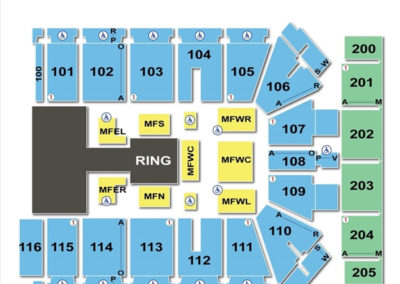 Tyson Events Center Seating Chart WWE