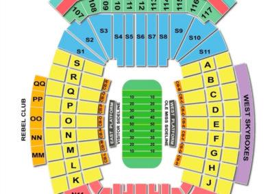 Vaught-Hemingway Stadium Seating Chart - Football