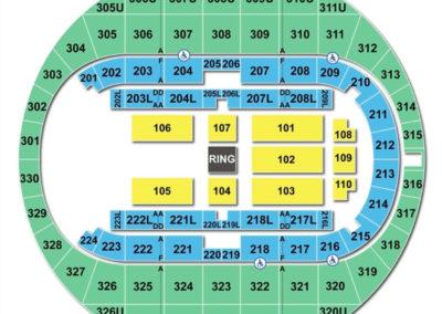Von Braun Center Arena Seating Chart WWE
