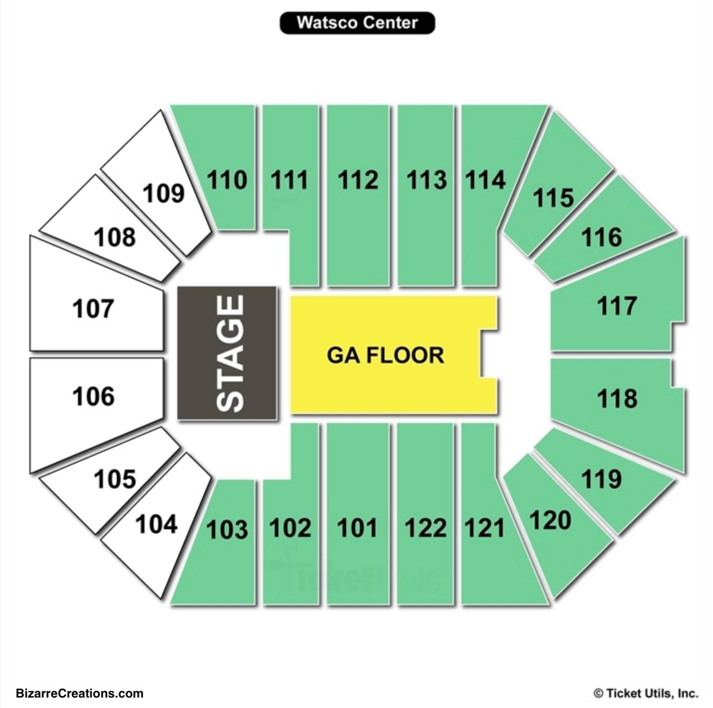 Watsco Center Concert Seating Chart