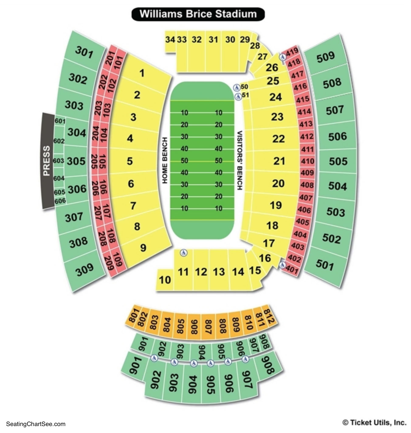 Williams-Brice Stadium Seating Charts Views | Games ...