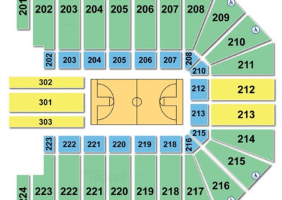 Wright State University Nutter Center Basketball Seating Chart