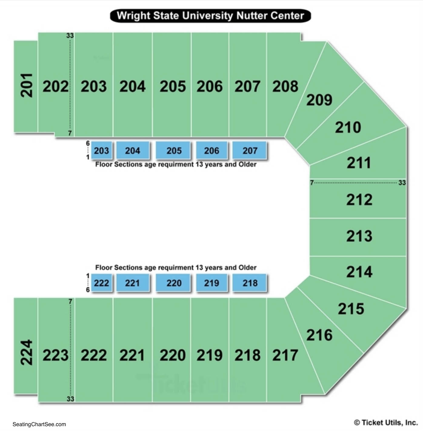 Wright State University Nutter Center Circus Seating Chart
